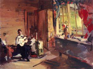 Девушка с гитарой. 1916