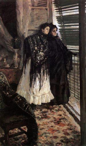 У балкона. Испанки Леонора и Ампара. 1888-1889