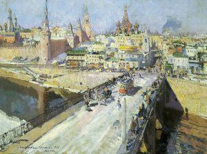 Константин Коровин. Москворецкий мост. 1914