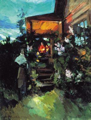 Летним вечером у крыльца. 1922