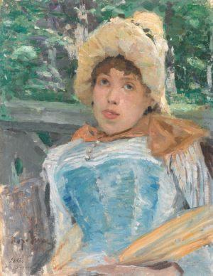 Портрет хористки. 1887