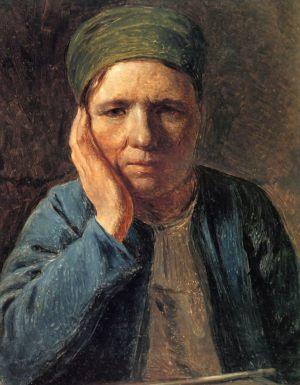 Крестьянская женщина, опирающаяся на руку