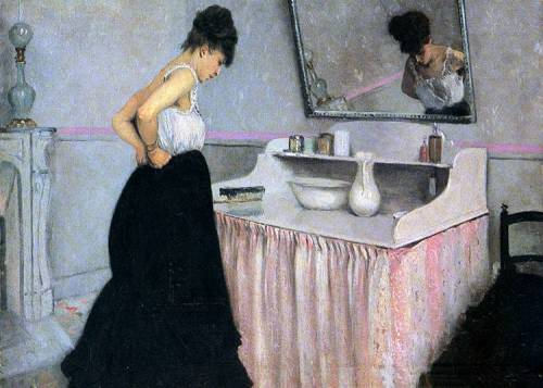 Woman at a Dressing Table, 1873 Gustave Caillebotte